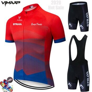 2020-STRAVA nueva ropa de ciclismo de Summer ropa deportiva alusivos trajes profesionales...