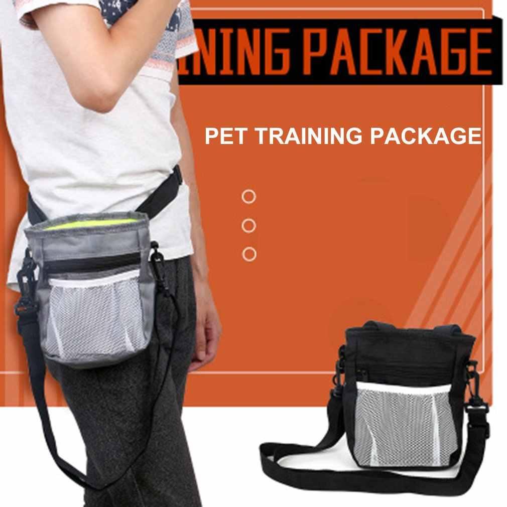 Угощение для собак тренировочная сумка Оксфорд корма сумка для хранения Портативный закуски награда поясная сумка с плечевым ремнем для путешествий на открытом воздухе