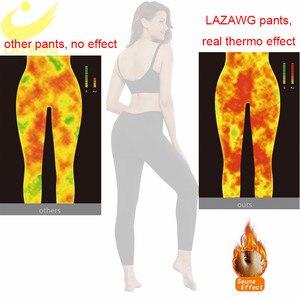 Image 4 - LAZAWG Braga de Control para mujer, pantalones ajustados de neopreno para Sauna con calor, moldeador de cuerpo, pantalones de entrenamiento deportivo, adelgazante de muslos