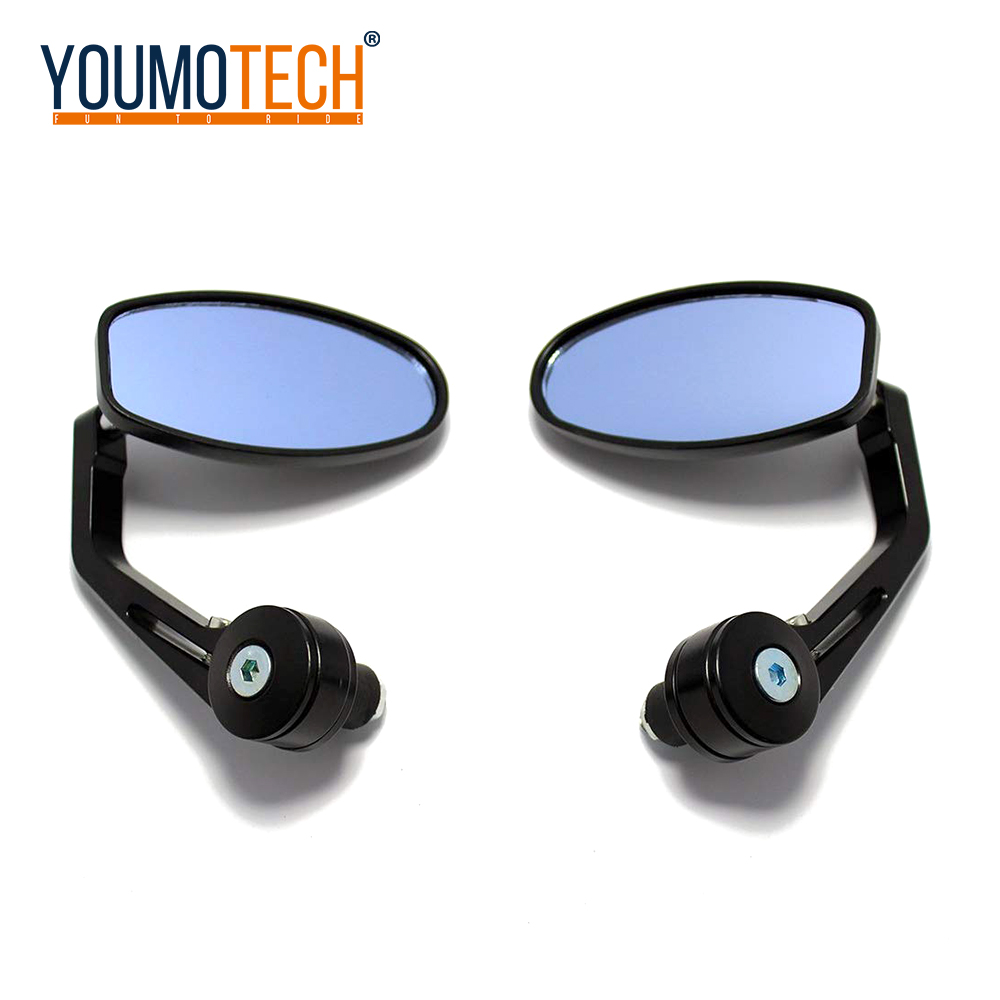 22mm Motorcycle Rear View Handle Bar End Mirrors Rearview Side Mirrors For <font><b>Buell</b></font> <font><b>1125CR</b></font> 1125R M2 Cyclone Ulysses XB12X X1 XB12 image