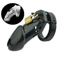 CB6000S/CB 6000 Rooster klatka mężczyzna urządzenie Chastity z 5 rozmiar pierścień Penis zablokować mężczyzna Chastity Belt zabawki erotyczne do gier dla dorosłych