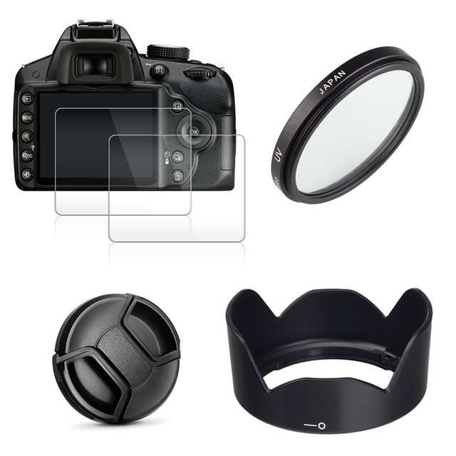49mm UV מסנן + EW53 עדשת הוד + כובע + 2x זכוכית מסך מגן עבור Canon EOS M10 M50 m100 M200 M6 Mark II עם 15 45mm עדשה