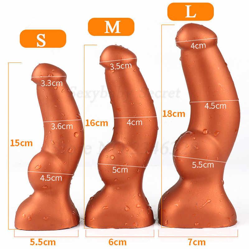 Nuevo de silicona líquida Anal consolador Super suave masaje de próstata enchufe trasero ano Dialtor punto G Vagina vibrador juguetes sexuales para los hombres de las mujeres