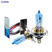 4 STUKS Halogeen Lamp H4 12V 100/90W 5000K Xenon Donkerblauw Glas Auto Koplamp Lamp super Wit
