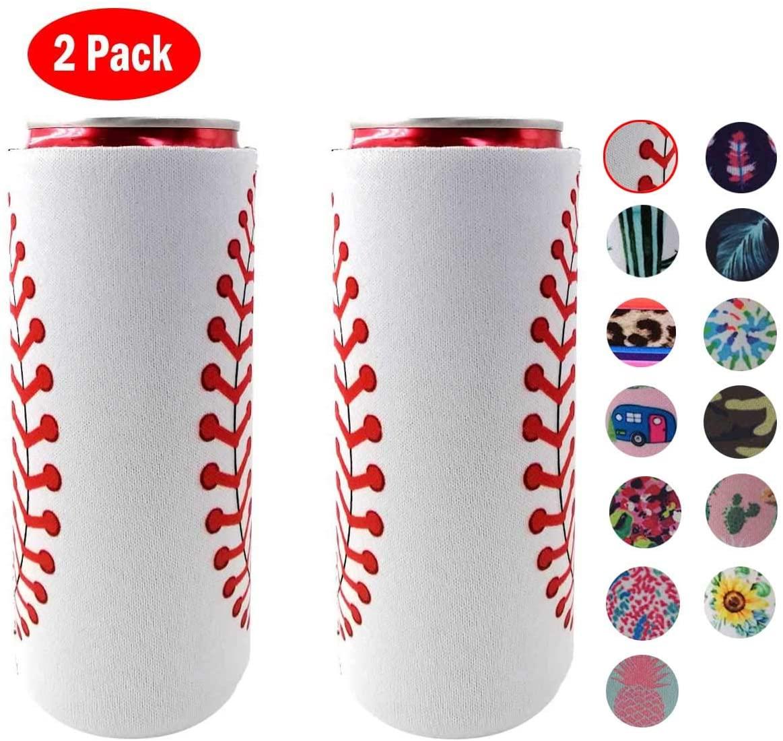 2 упаковки, сумка-холодильник, Сумка Для Охлаждения пива, кулер для бутылок и банок, красочные неопреновые держатели для пива 12 унций