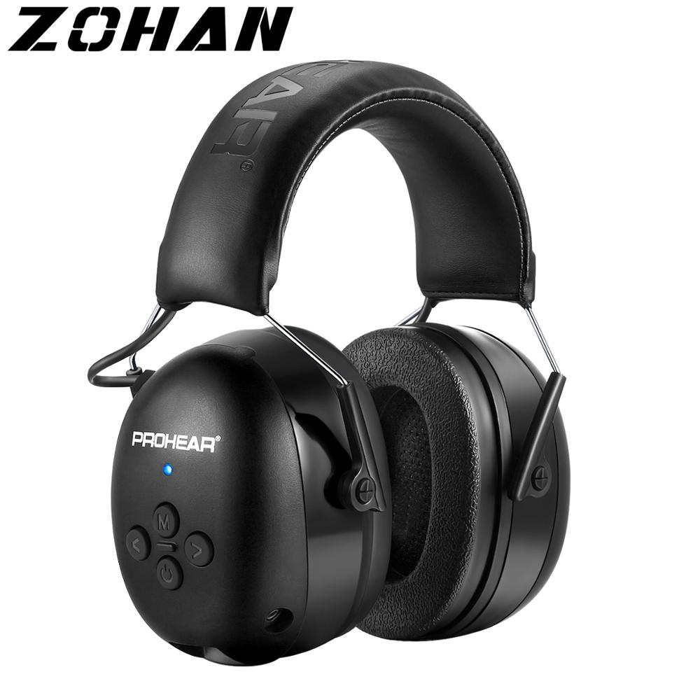 ZOHAN Tactical Electronic Shooting Earmuff Bluetooth 5.0 Hearing Protection Headset NRR25dB Noise Reduction Ear Muffs