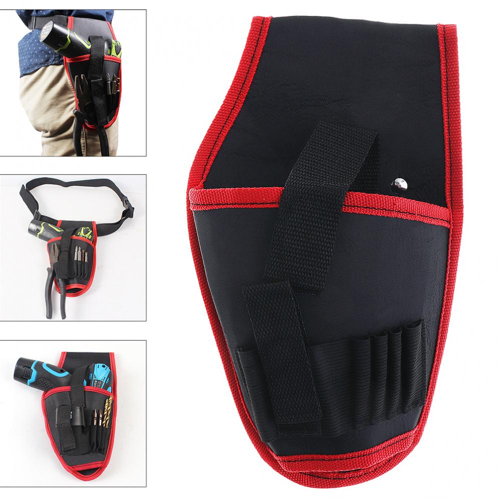Portable Electrical Drill Pockets Tools Bag With Belt And Tool Storage For Home Decoration / Site Operations