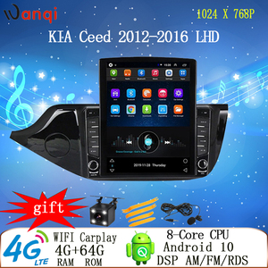 9.7 inch Tesla style 4G car android gps multimedia player for KIA ceed 2012-2016 LHD RHD dvd radio video vertical screen display