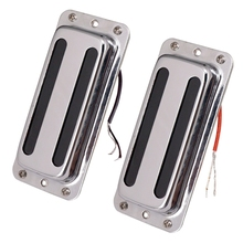 цена на 2Pcs Metal Pickups Double Coil Bridge Neck Humbucker Pickups for Electric Guitar Accessories