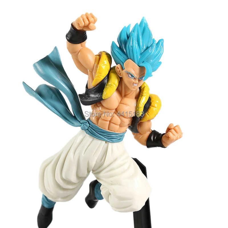 4 estilos dragão bola estatueta super saiyan soldados son goku cabelo azul dragão bola z gogeta vegeta figura brinquedos