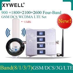 Nowy!! Wzmacniacz komórkowy 900 1800 2100 2600mhz czterozakresowy wzmacniacz sygnału komórkowego GSM DCS WCDMA LTE 2G 3G 4G wzmacniacz komórkowy