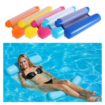 Foldable Summer Water Hammock Swimming Pool Inflatable Lounger Toys Rafts Floating Bed for Kids&adult Mat