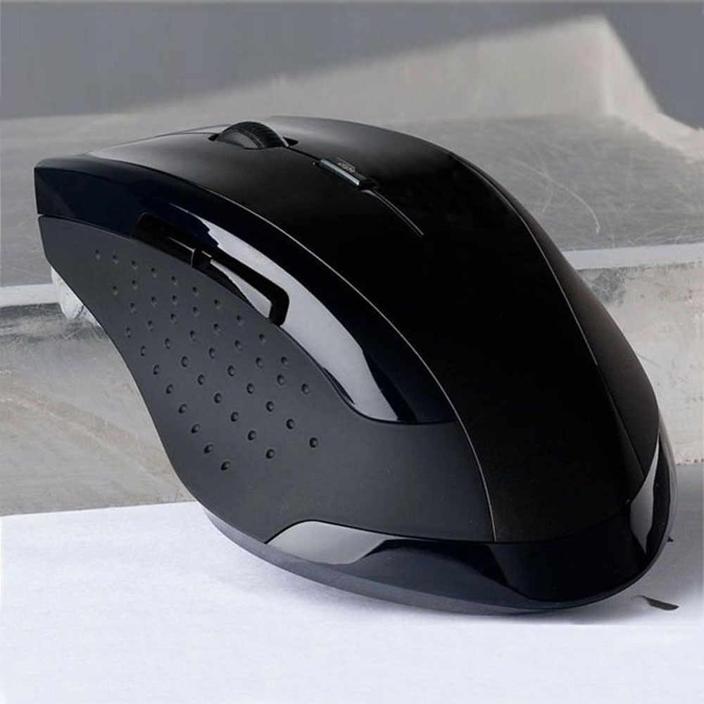 محمول ووزن خفيف أسود مع 6 مفاتيح ماوس الألعاب 2.4GHz ماوس الألعاب البصرية اللاسلكية الفئران للكمبيوتر الكمبيوتر المحمول