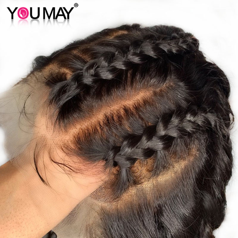 Wig May-Hair Lace-Frontal Pre-Plucked Women 360 with 150-% Brazilian Body-Wave for Remy-You title=