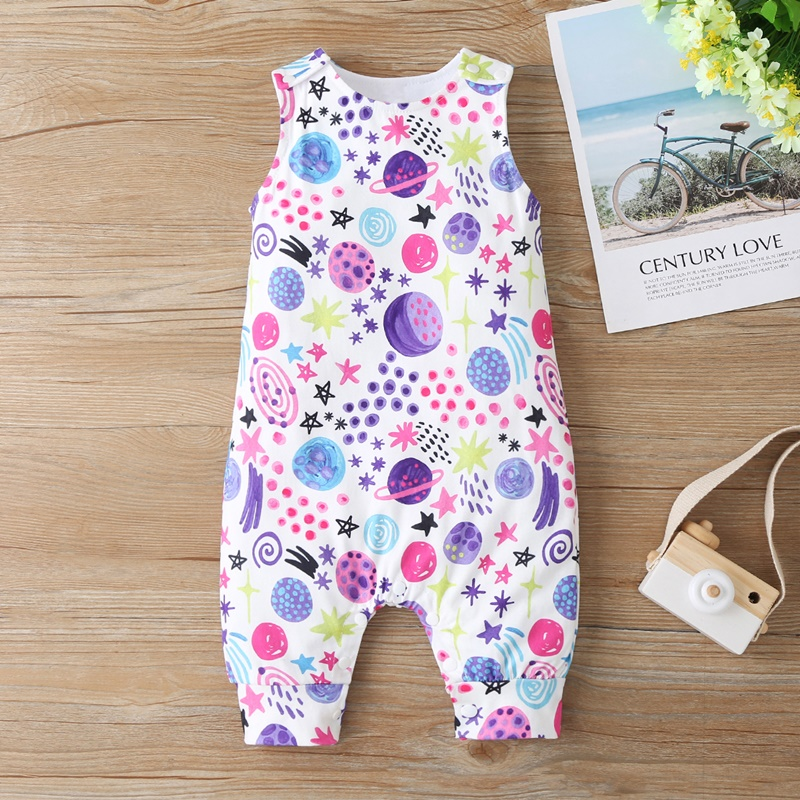 Baby Clothing Newborn Baby Boy Girl Romper Sleeveless Jumpsuit Outfit Clothes Animal Dinosaur Print Color Summer Infant Rompers 3
