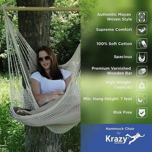 Image 2 - ALLOET grande corde de coton Net hamac chaise Portable en plein air Camping suspendu lit de couchage intérieur adulte enfants enfants balançoire chaise