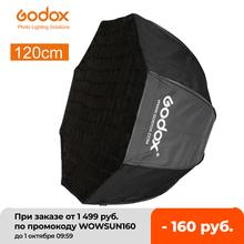 Godox przenośny 120 cm 47 #8222 Octagon parasol Softbox z siatką o strukturze plastra miodu zdjęcie reflektor o strukturze plastra miodu Softbox do lampy błyskowej tanie tanio CN (pochodzenie) 120cm Octagon Umbrella Softbox