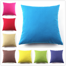 Manufacturers spot custom large size cotton canvas candy color pillow cushion cover sofa car