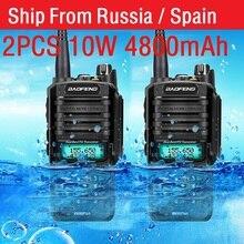 2Pcs High Power 10W Baofeng UV 9R Plusกันน้ำWalkie TalkieวิทยุสองทางวิทยุCbวิทยุComunicador рация