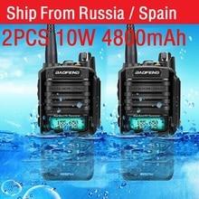 2pcs high Power 10w Baofeng UV 9R plus Waterproof walkie talkie two way radio ham radio cb radio comunicador рация