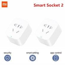 Original Xiaomi Mi Smart Buchse 2 Stecker Bluetooth Gateway Version Fernbedienung Arbeit Mit Xiaomi Smart Home Mijia Mi hause APP