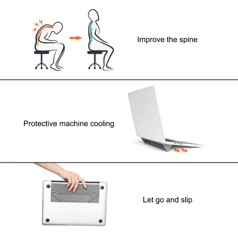 Foldable Laptop Stand for Macbook air pro notebook Cooling Portable computer tablet pc Pasteable Laptop Stand in Laptop Stand from Automobiles Motorcycles