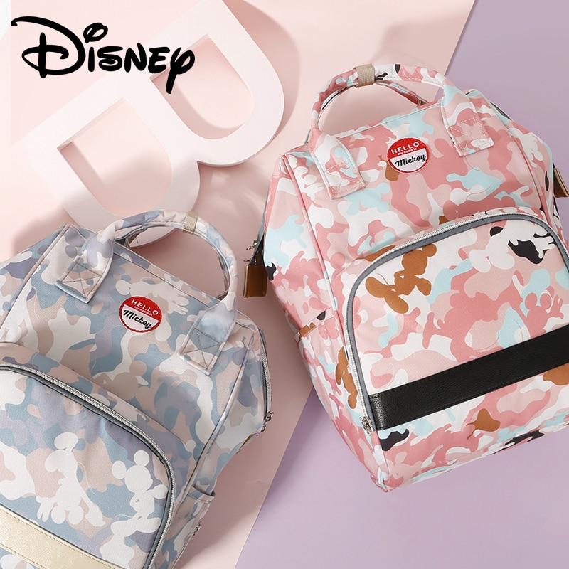 Disney Diaper Bag Backpack Maternity Baby Bag For Mom Nappy Bag Large Capacity Baby Organizer Stroller Nursing Bag For Baby Care