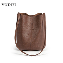 Bag Women Leather Bucket Luxury Handbags Designer 2019 Famou