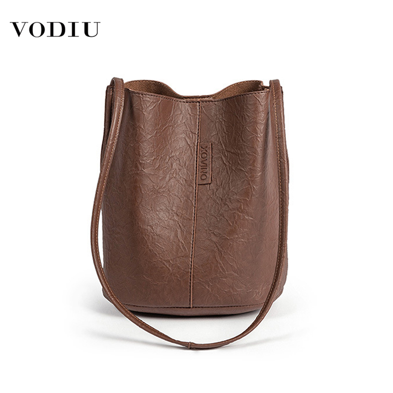 Bag Women Leather Bucket Luxury Handbags Designer 2019 Famous Brand Large Capacity Shopping Travel  Shoulder Crossbody Women Bag