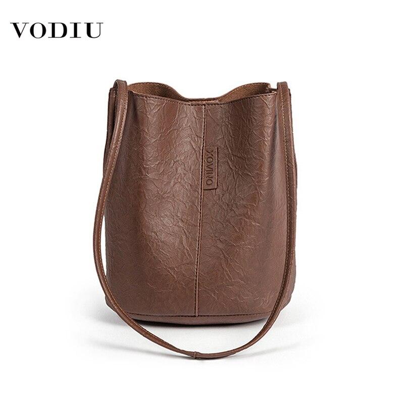 Bag Women Leather Bucket Luxury Handbags Designer 2019 Famous Brand Large Capacity Shopping Travel Shoulder Crossbody Women Bag