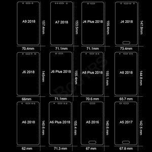 Image 3 - Protector de pantalla de vidrio templado 9H 2.5D, para Samsung Galaxy A7, A9, 2018, J6, A6, A8, J4 Plus, A5, 2017, 3 uds.