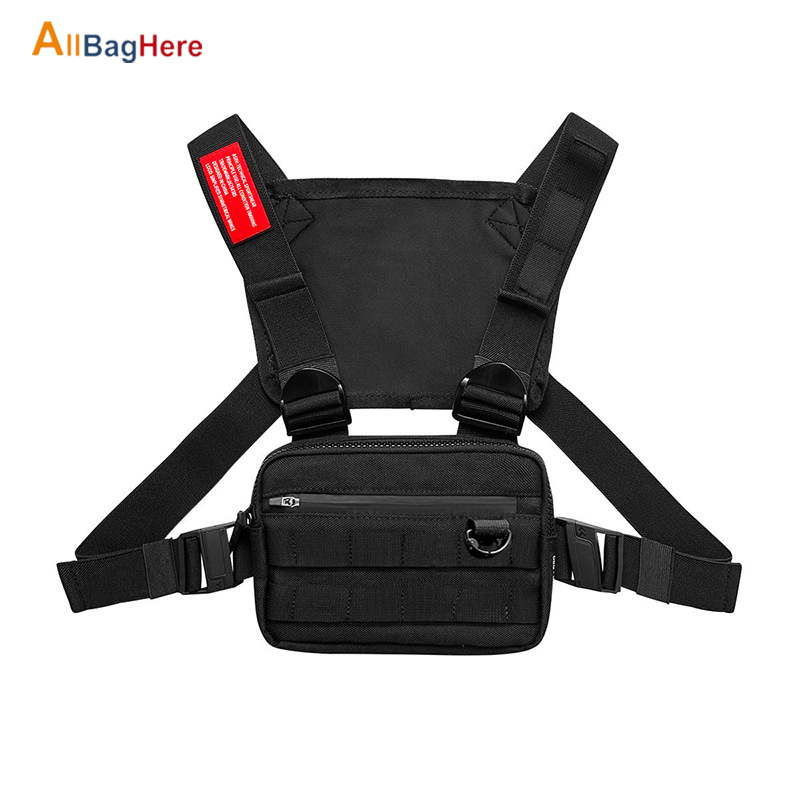 Outdoor Fashion Military Chest Bag Men Women Travel Chest Bag  Streetwear Hiking Cycling Functional Tactical Package Bullet Pack