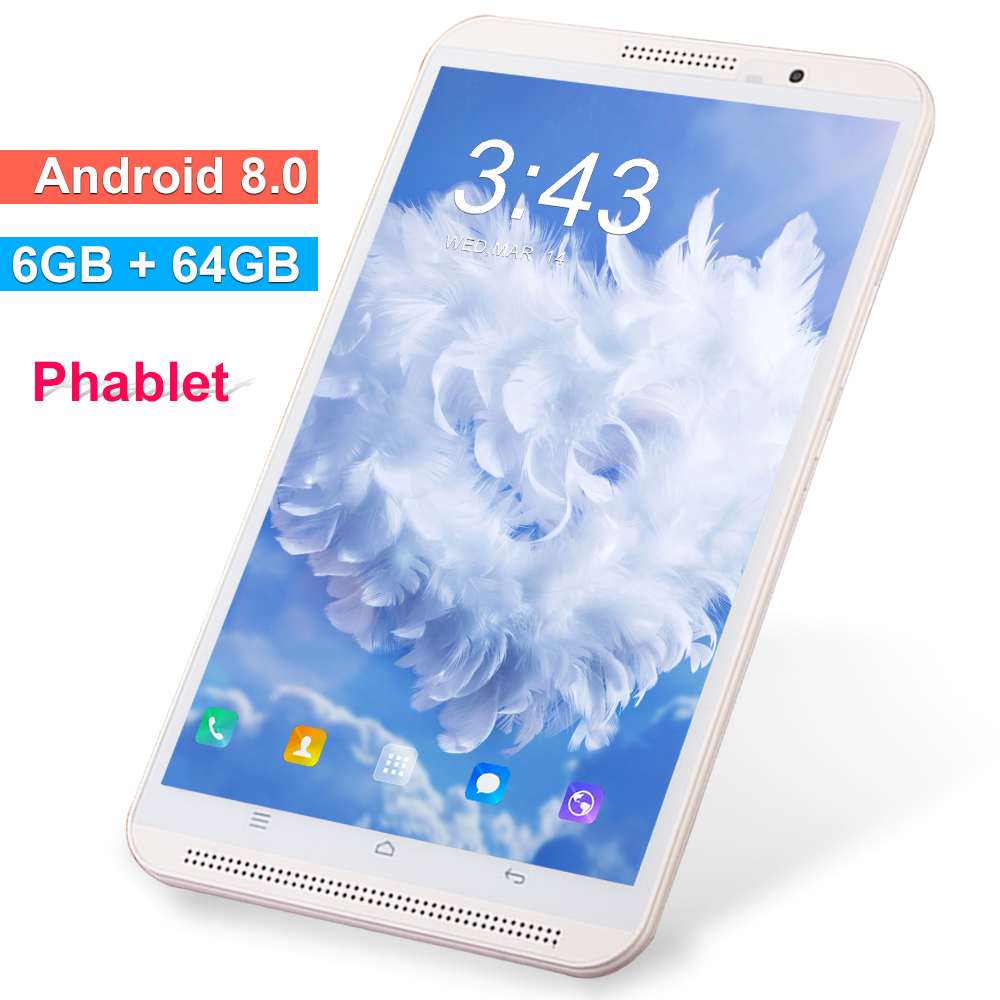 New K8 8 Inch Tablet PC Android 8.0 4G Lte Phone Mobile Call Tablets 6GB RAM 64GB ROM Dual SIM Wi-Fi 2.4G/5G FM GPS Bluetooth