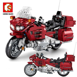 SEMBO BLOCK Technic Motorcycle Car Models City Off Road Motorbike Vehicle Building Blocks Bricks Technic Sport Car Toys For Boys