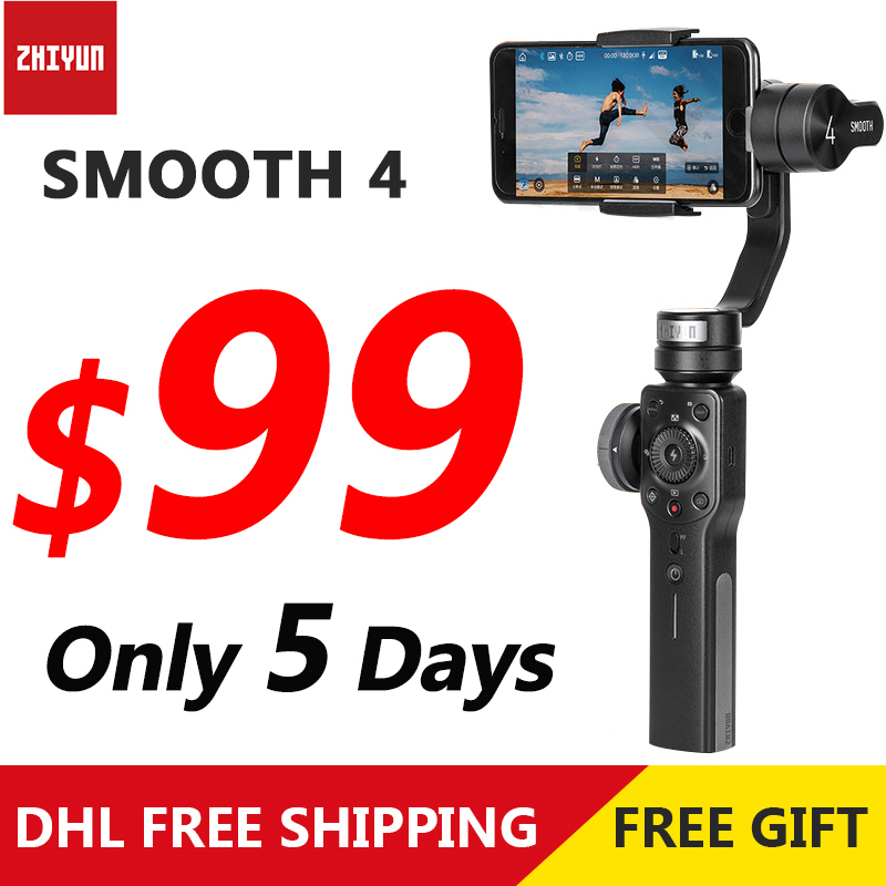 Zhiyun Smooth 4 3-axis Handheld Gimbal For Iphone 6 7 X Samsung S10 Smartphone Stabilizer Steadicam PK Dji Osmo Pocket Mobile 2