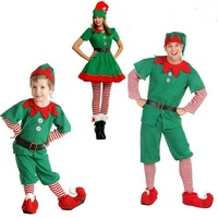 4PCS Cosplay Family Matching Outfits Look Christmas Clothes Mother Daughter Dresses Father Son Clothing Christmas Family Set WS