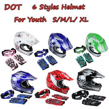 Motorcycle DOT Youth Child Kids Helmet Motorcycle Full Face Offroad Dirt Bike ATV casco moto Gifts casque moto  Sports Safety 2