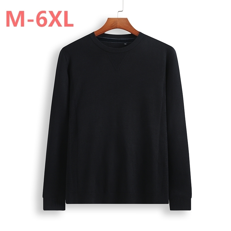 8XL 6XL 5XL 4XL Sweater Men  New Arrival Casual Pullover Men Autumn Round Neck Patchwork Quality Knitted Brand Male Sweaters