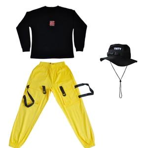 Image 5 - جديد الهيب هوب ملابس للأطفال المرحلة زي الشارع ارتداء الأطفال الجاز أزياء رقص قاعة الرقص أداء الملابس DQS3065