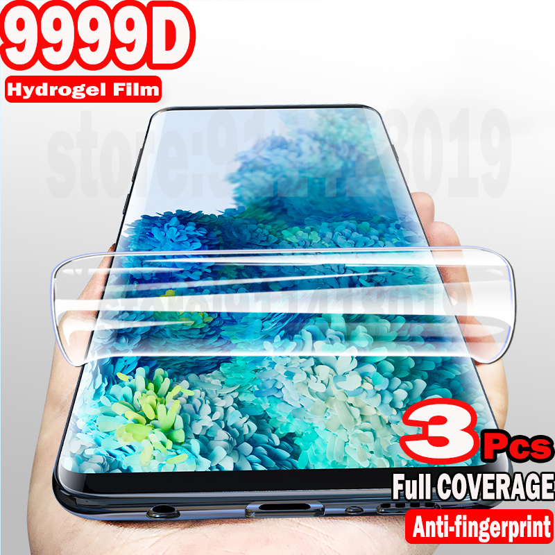 3Pcs Hydrogel Film Screen Protector For Samsung Galaxy S20 FE S10 S21 S9 S8 Plus A51 A71 A50 A12 A32 A52 A72 A21S A31 Not Glass