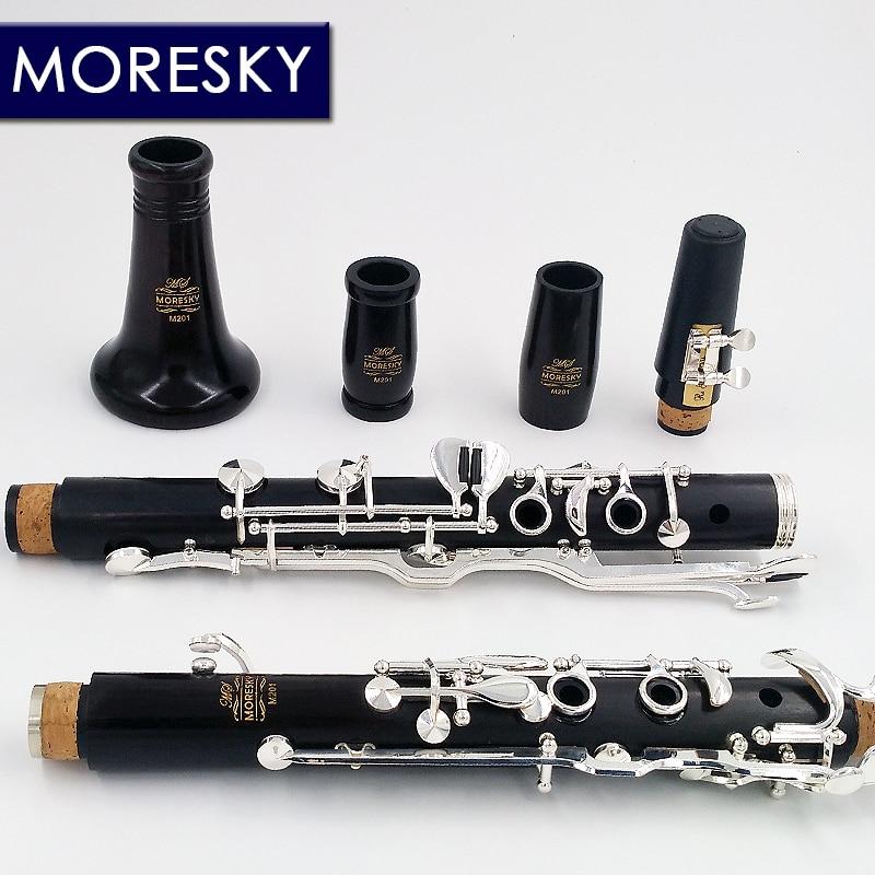 Oehler система кларнет Немецкий G Tune кларнет из черного дерева ключи с серебристым напылением MORESKY M201