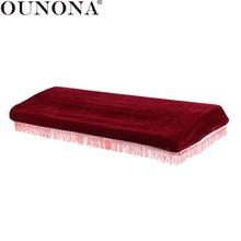 OUNONA электронный для фортепиано, от пыли крышка клавиатуры Пылезащитная крышка кисточкой сумка для хранения для 61 клавиши пианино с утягивающим шнурком Защитная крышка