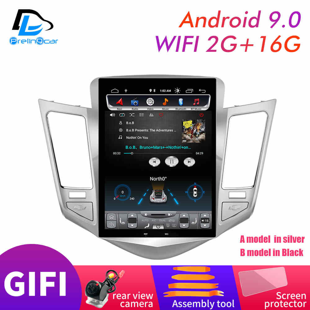 32G Rom Verticale Screen Android 9.0 Systeem Auto Gps Multimedia Video Radio In Dash Voor Chevrolet Cruze Navigatie stereo