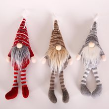 Christmas navidad Ornament Knitted Plush Gnome Doll Christmas Tree Wall Hanging Pendant Holiday Decor Gift(China)
