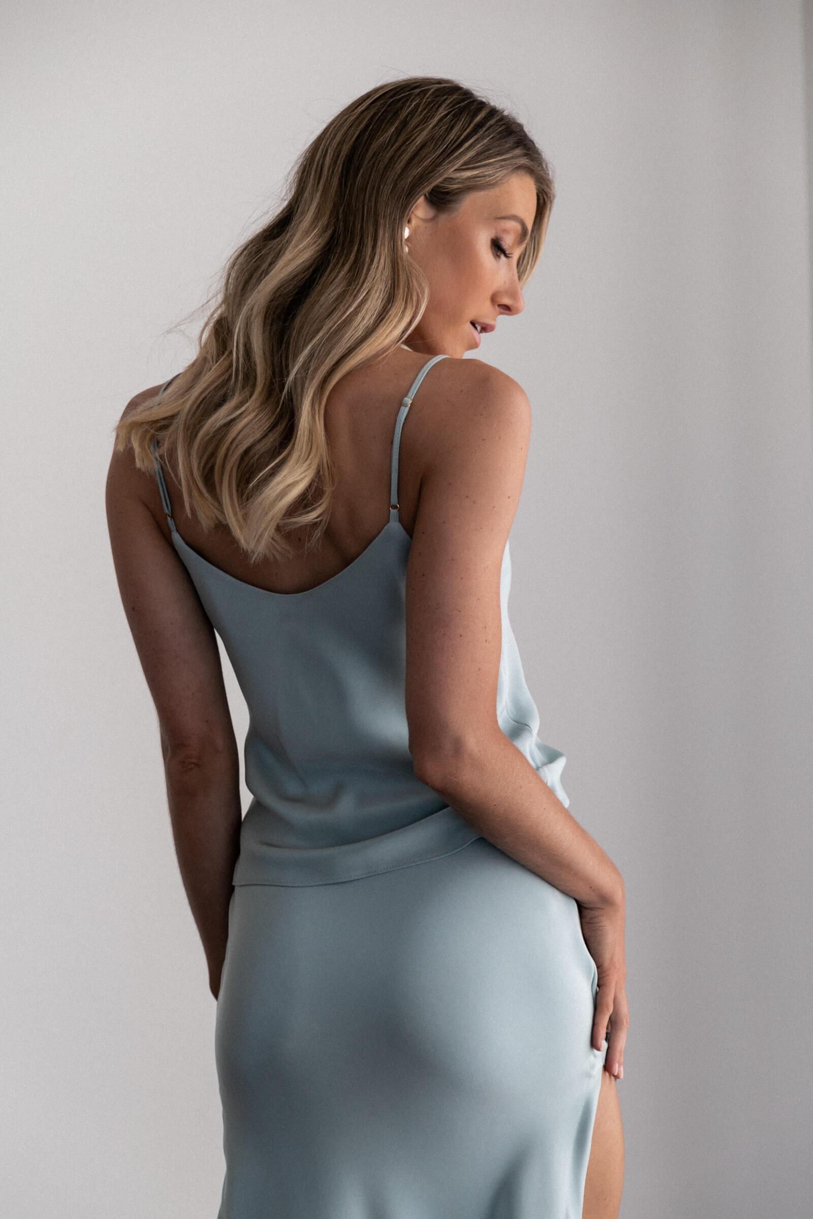 Cheap Sheath Bridesmaid Dresses 2020 Satin Side Slit Spaghetti Straps Vestido De Festa Robe Demoiselle D'Honneur