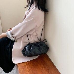 Image 3 - מותג עיצוב ארוג כופתה תיק נשים כתף שקיות 2020 חדש אופנה גבירותיי Crossbody שליח שקיות עור מפוצל תיקי נקבה