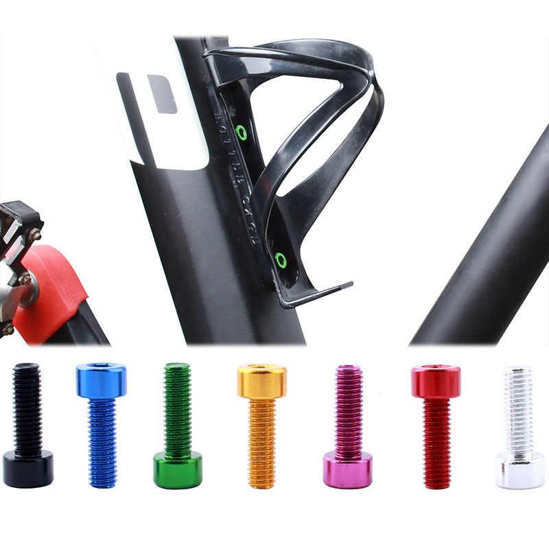 2PCS Fahrrad Wasser Flasche Halter Schrauben Aluminium Legierung Flasche Käfig Schrauben Fahrrad Flasche Halter Bolzen MTB Bike Fahrrad Zubehör