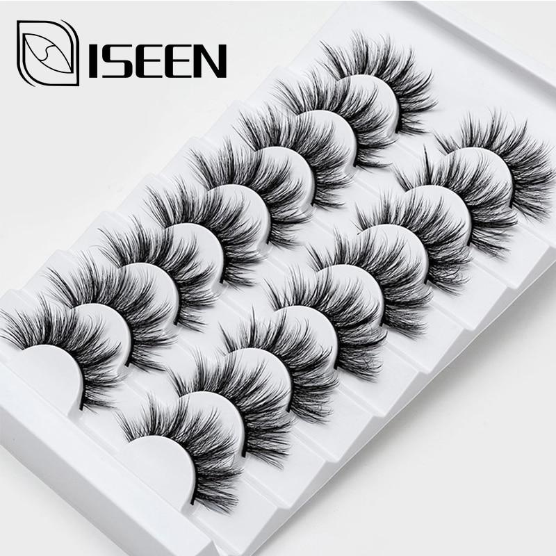 2/4/8/10 Pairs Lashes 3D Mink Eyelashes Natural Long /Thick False Eyelashes Handmade lashes Makeup Extension Eyelashes-in False Eyelashes from Beauty & Health