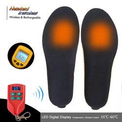 Nowy inteligentny pilot elektrycznie podgrzewane wkładki z akumulatorem zimowe termiczne elastyczne wkładki do butów grzewczych