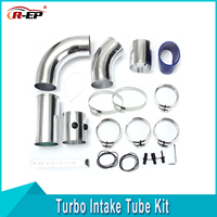 R EP Universal Turbo Air Injection Intake Filter System Tube Kit High Flow Performance Induction Air Filter Supercharger